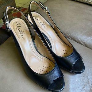 (EUC) Abella slingback open toe heels